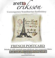 Anette Eriksson French postcard scandinavian embroidery kit cushion 52x52cm 18ct