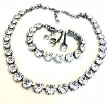 8mm Swarovski crystal elements Necklace Bracelet And Earrings Clear Crystal NWT