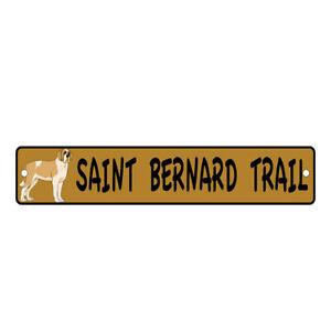 Aluminum Weatherproof Road Street Signs St Bernard Trail Dog Home Decor Wall