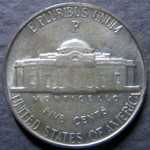 *SILVER 1944-P  JEFFERSON NICKEL, Uncirculated WW II Philadelphia SILVER Mint #C