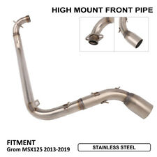 High Mount Full Exhaust Muffler System Front Pipe For HONDA Grom MSX125 13-19