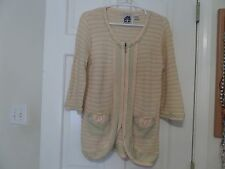 HSN Storybook Knits SZ S Fancy Tweed Cardigan FREE SHIPPING