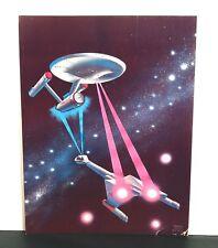 Star Trek TOS USS Enterprise NCC-1701 W/ Clingon Ship Morris Scott Dollens Print