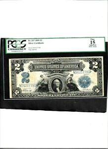 SILVER CERTIFICATE Fr. 257 1899 $2 Fine 15