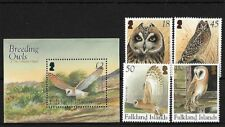 FALKLAND ISLANDS SG997/1000 + MS1001, 2004 OWLS, MNH