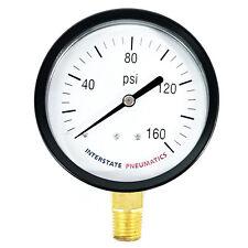 """Pressure Gauge 160 PSI 3"""" Diameter 1/4"""" NPT Bottom Mount - G2032-160"""
