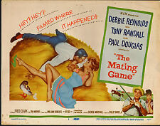 THE MATING GAME original 1959 movie poster DEBBIE REYNOLDS/VARGAS artwork