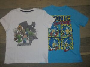 Old Navy Collectabilitees Minecraft & Sonic t-shirt LOT Boys XS/5