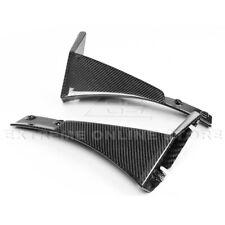 For 14-19 Corvette C7 Z06 Stage 3 CARBON FIBER Front Splitter Extension Winglets