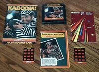 VTG Atari 5200 Kaboom! video game cartridge w box Instructions overlays catalog
