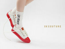 SK COUTURE CANVAS SNEAKERS SPECIAL EDITION WHITE W/RED 4cmx1.2cm Blythe, Lati, +