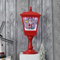 Tabletop Musical Christmas Snowing Lamp Indoor Use Animated Snow Continuously