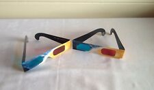 3D Glasses x 5 from Kodak Blue and Red in Cardboard Frames - Pictures, Films