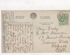 Miss Darby / Mrs Marsden Mount Terrace Vicarage Walk Walsall 1908 479a