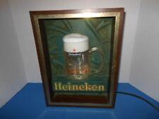 VINTAGE HEINEKEN LIGHT WITH BUBBLING GLASS 1970'S