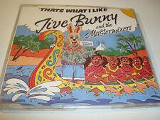 RAR MAXI CD. JIVE BUNNY AND THE MASTERMIXERS. THATS WHAT I LIKE. 4 TRACKS. BCM.
