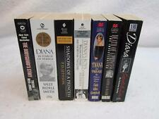 Lot of 7 PRINCESS DIANA Biographies/Histories SOFTCOVERS