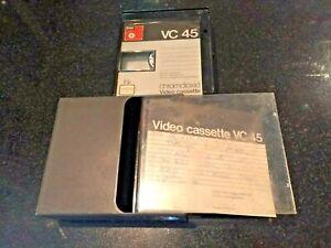 BASF VC 45 CHROMDIOXID VINTAGE VIDEO CASSETTE (USED)