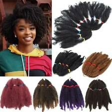 Mega THICK Kinky Afro Twist Crochet Braids Braid Hair Extension Ombre For Human
