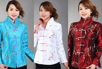 Chinese Women's silk/satin embroidery jacket coat Cheongsam Sz: M-3XL