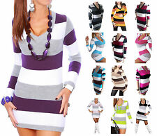 Acrylic Thin Knit Striped Jumpers & Cardigans for Women