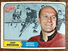 1968/69 Topps Hockey #25 Gary Bergman Detroit Red Wings VG/EX