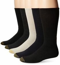 5-Pack Gold Toe Mens Downtown Crew Sock Assorted Colors 5-Pair