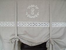 Raff Gardine CRYSTAL SAND 140x120 LillaBelle Monogramm bestickt Rollo Curtain