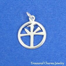 .925 Sterling Silver CHINESE PEACE SYMBOL CHARM PENDANT