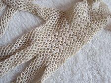 superbes gants au crochet écrus,vintage