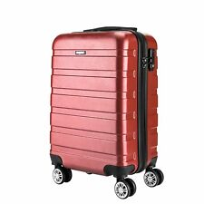 """Hard Shell 4 Wheels Suitcase PC 20"""" Luggage Travel Bag Case Cabin Hand Carry On"""