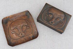Art Deco Afro Arts Bazaar Copper Mask Box Trinket Dish Francisco Rebajes Style