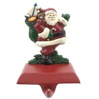 MIDWEST Solid Cast Iron Waving Santa Toy Bag Christmas Stocking Holder Hanger