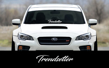 "Trendsetter sticker 23"" Windshield JDM acura honda lowered car subaru decal VW"