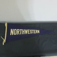 Vintage 1940's Felt or wool Full Size 28 inch pennant Northwestern