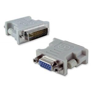 Adaptador Conversor VGA Hembra - a DVI-I Dual Link Macho 24+5 Pines Pin - Nuevo