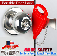 Portable Travel Security Safety Door Lock Hotel Room Intrusion Prevention Buckle