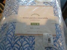 Pottery Barn Mimi Paisley Bedding Ensemble duvet sham  + sheet set Twin  New