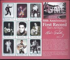 ELVIS PRESLEY First Record Thats All Right Commemorative Sheet of 9 Gambia E115