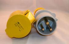 32 amp 3 Pin Plug & Socket IP44 110 volt 32A Ilme (2P +E)