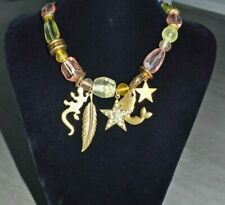 Pilgrim Gold Charms Necklace with Swarovski Crystals