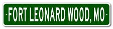 FORT LEONARD WOOD, MISSOURI  City Limit Sign - Aluminum