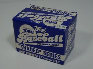 Topps 1988 Traded Series Baseball Cards Complete Set  Rookie Cards # 1-132