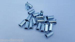 10-50 Blindnietmutter M8 Stahl Flachkopf Nietmutter 11x22 Zaunbau Gittermatten