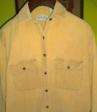 NICE!!! Lands' End Cotton Corduroy Shirt Dress Womens Size 6 Mid Calf Tan Small