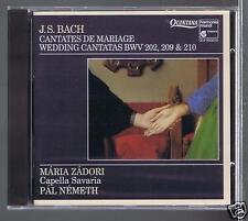 JS BACH CD NEW WEDDING CANTATAS BWV202.209.210 MARIA ZADORI/ PAL NEMETH