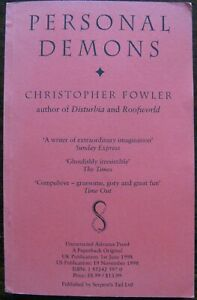 Personal Demons by Christopher Fowler (Paperback, 1998) Advance Proof copy