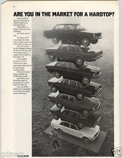 1972 PAPER AD Volvo Car Auto Automobile 7 Stacked on top of Each Other