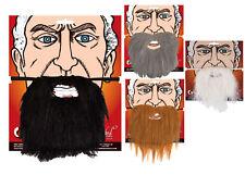 Disfraz Adulto Barbas Marrón Gris Blanco y Negro Barba Accesorio