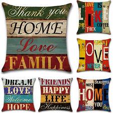 Vintage Linen Flower Cushion Cover Bed Sofa Waist Throw Pillow Case Home Decors